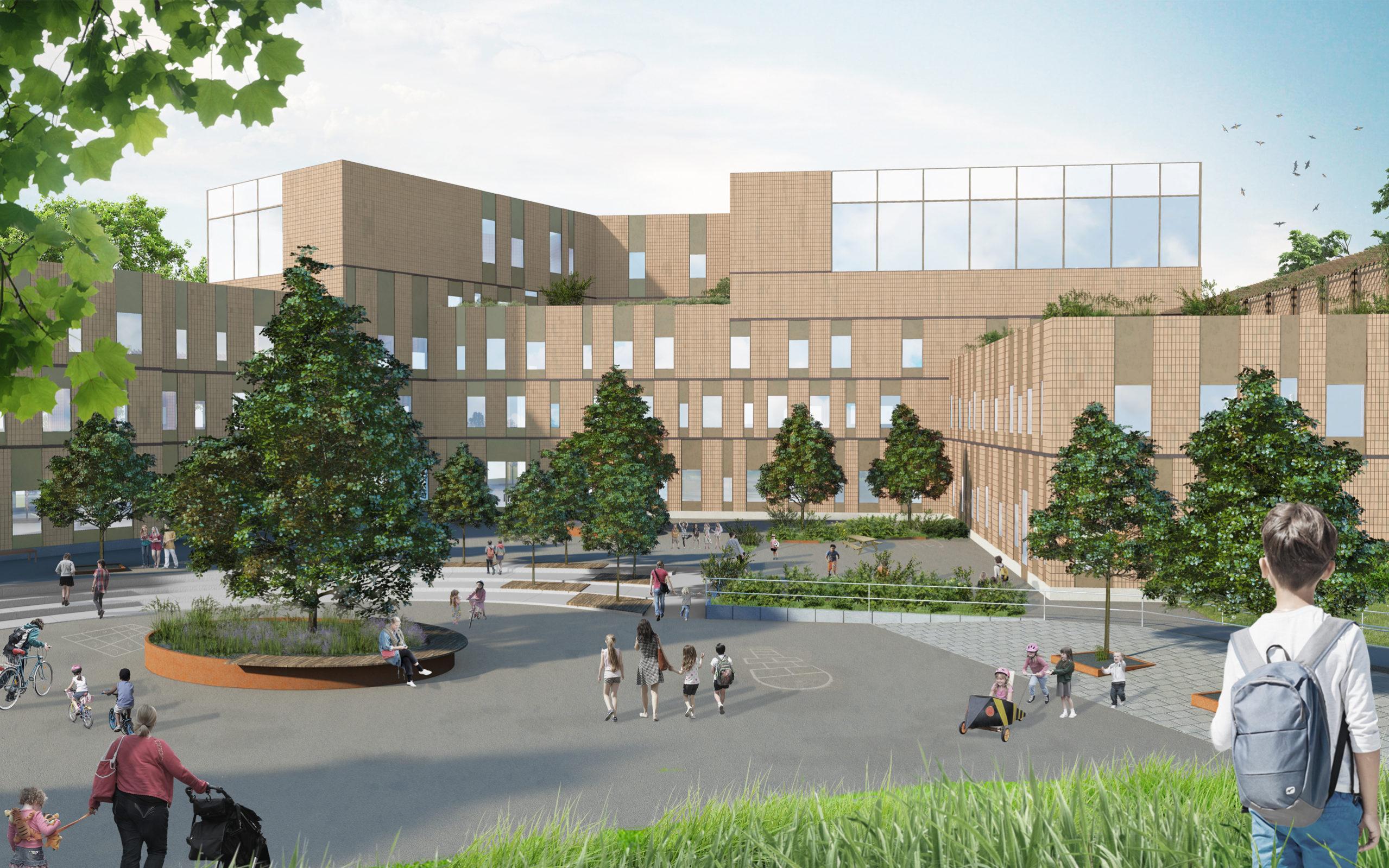 Bild på Ny skola i Huvudsta